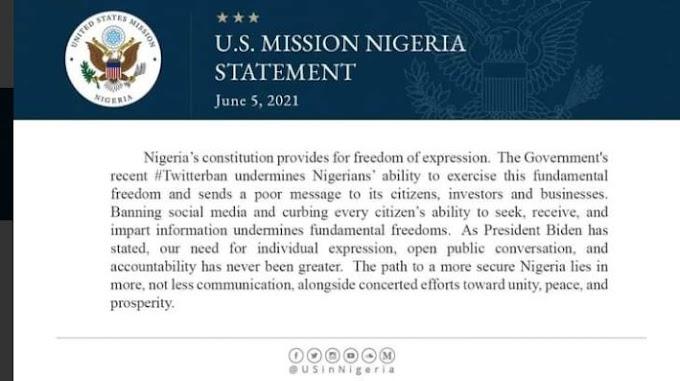 Twitter Ban against Nigeria's constitution - US
