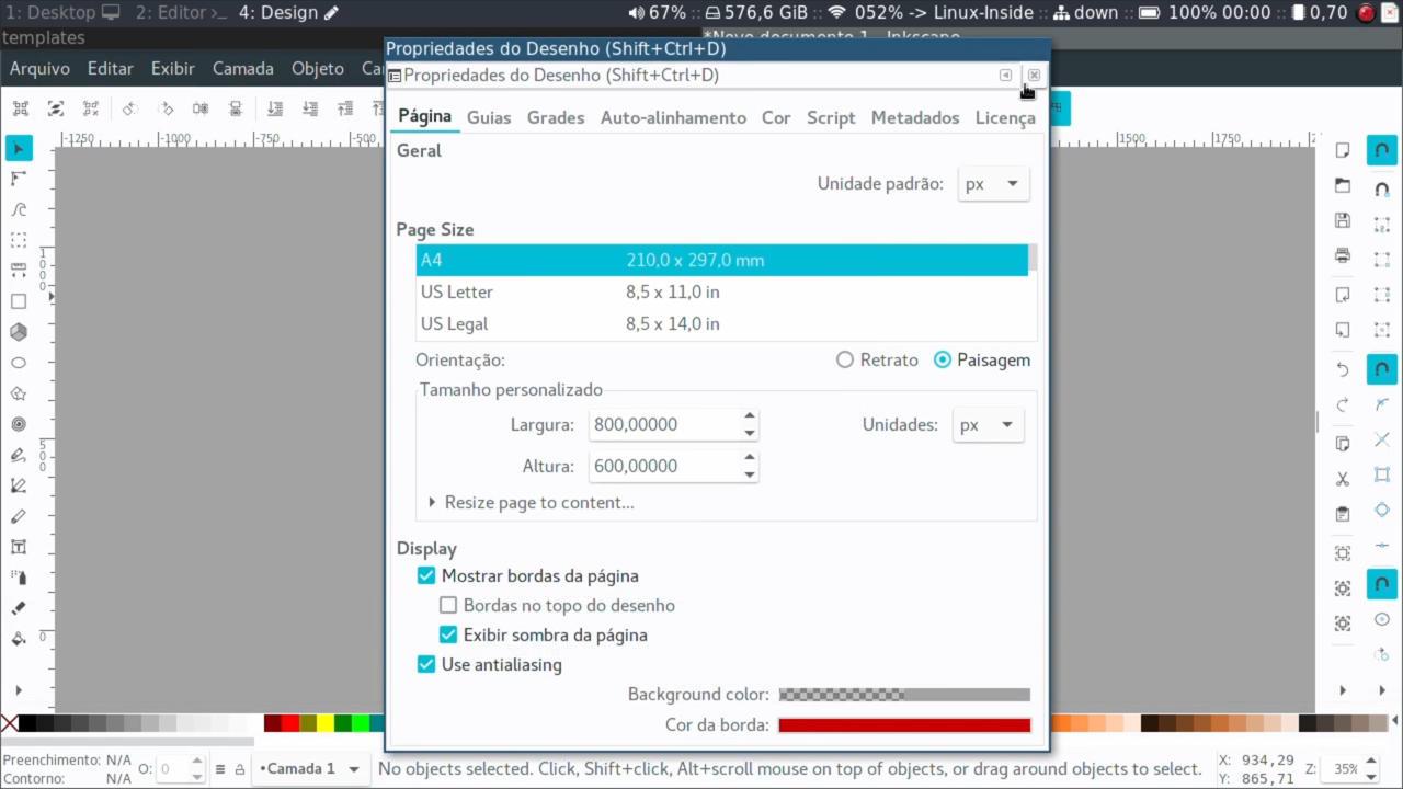 Templates no Inkscape - Livre Labs - Compartilhando