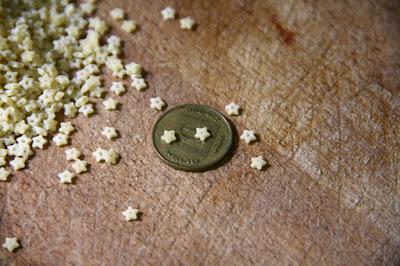 פסטה כוכבים, פתיתים, צילום אורנה לבנה