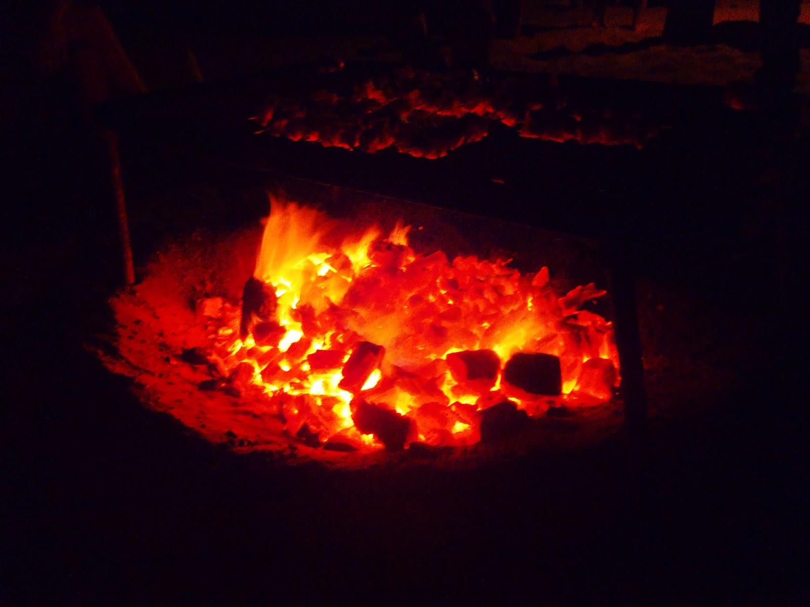 Campfire in Peru