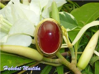 Batu Cincin Mustika Merah Delima Soekarno