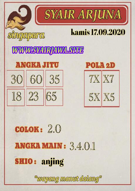 Kode syair Singapore Kamis 17 September 2020 236