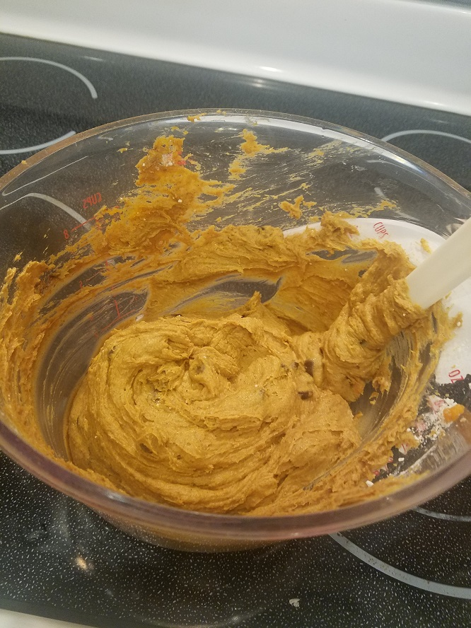 this is the batter for pumpkin zucchini bars