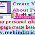 apna about homepage create kaise kare