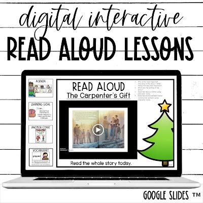 Christmas Digital Read Aloud Lessons for Google Slides TM