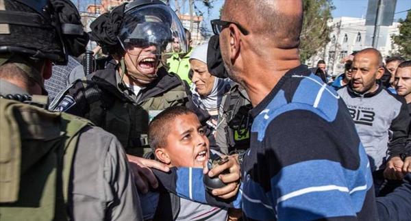 Niños palestinos detenidos
