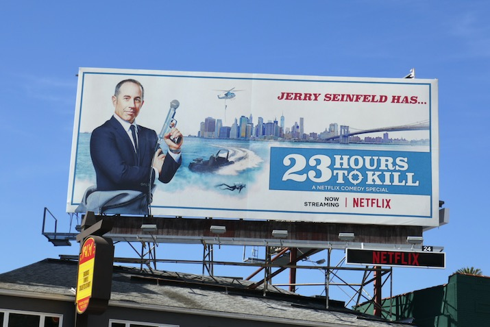 Jerry Seinfeld has 23 Hours to Kill billboard