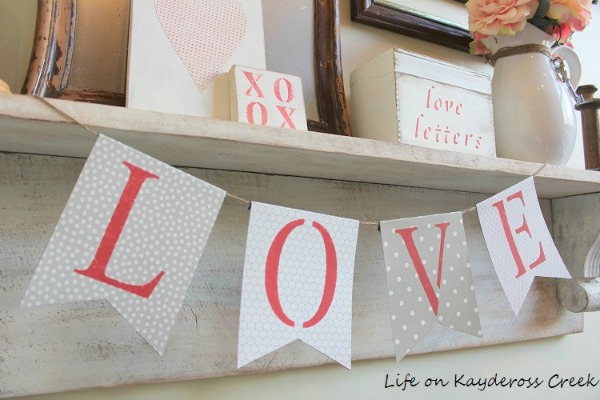Valentine's Day Banner from My Life on Kay deRoss Creek