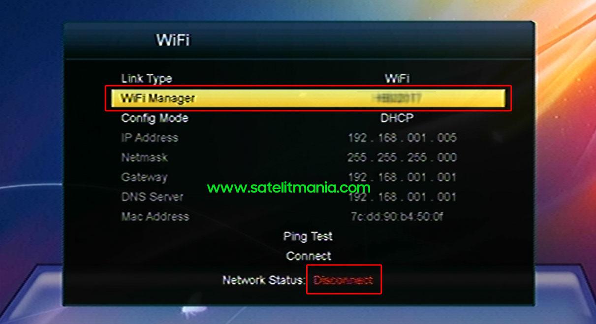 Memilih Jaringan WiFi di Receiver Skybox A1