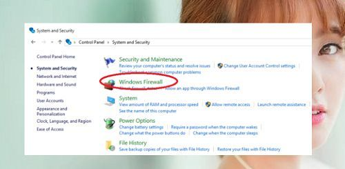 disable Windows Firewall in Windows 10