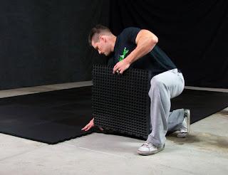 Greatmats installing rubber tiles demonstration