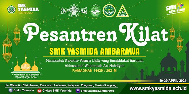 Desain Spanduk Pesantren Kilat 2021 di CorelDRAW - Ramadhan Banner
