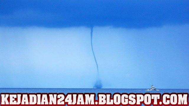 Inilah Penjelasan BMKG Tentang Fenomena Waterspout Di Laut