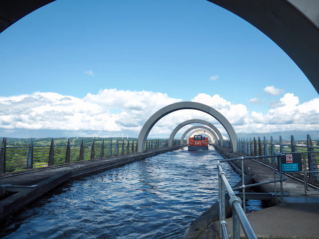 Falkirk Wheel on Union Canal, Falkirk, Scotland