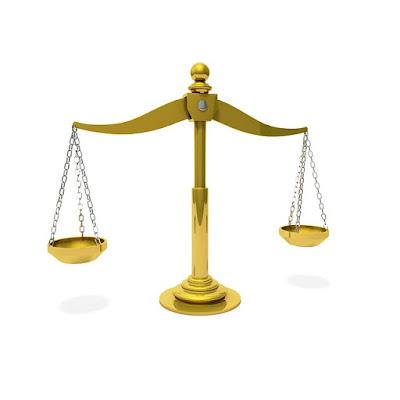 Golden Balancing Scale