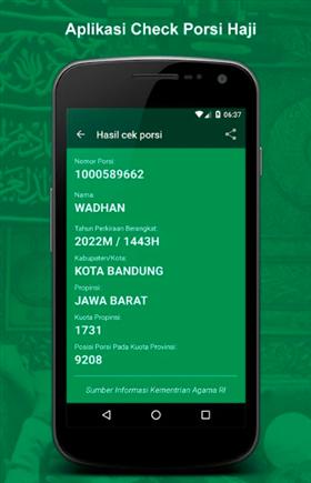 aplikasi cek porsi haji indonesia