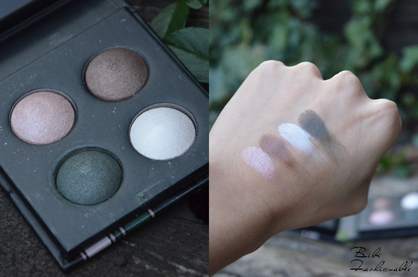 Catrice Check and Tweed Quattro Baked Eyeshadow offen und Swatches