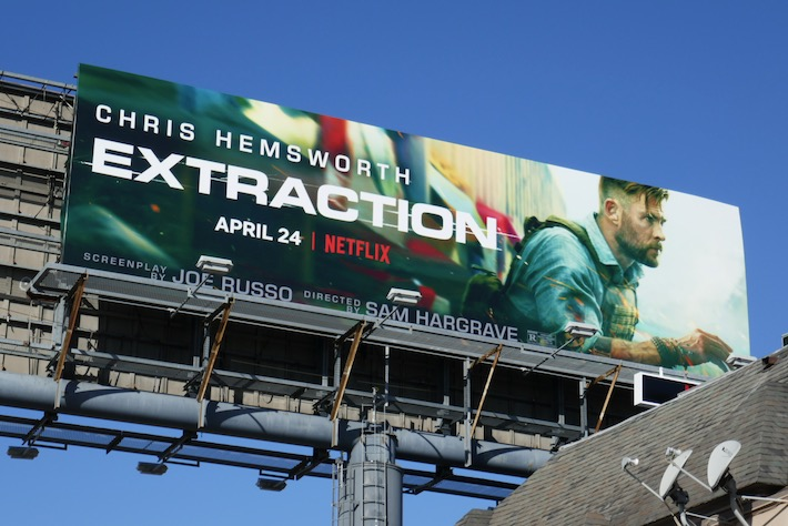 Extraction Netflix film billboard