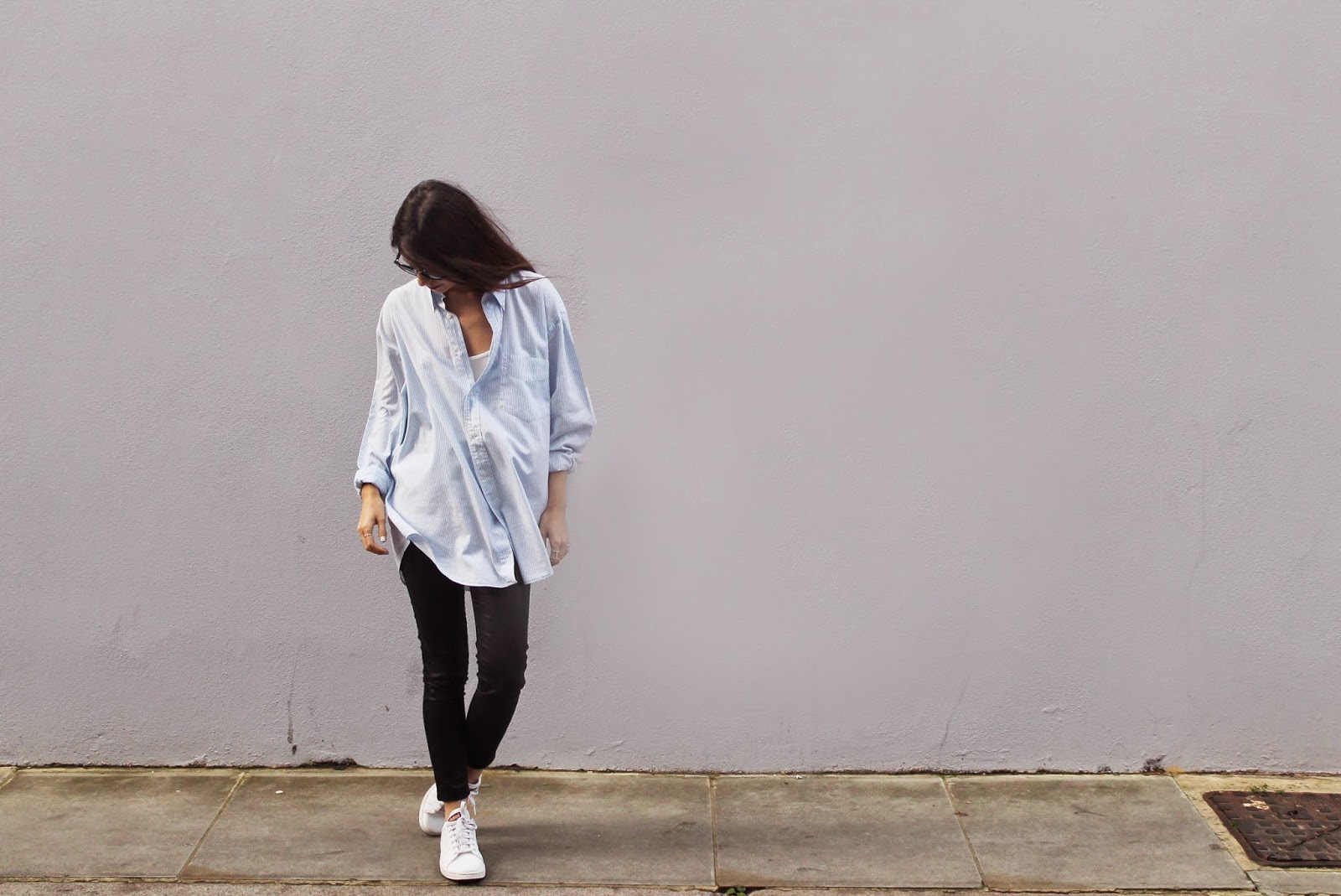oversized, shirt, relaxed, casual, blogger, outfit inspiration