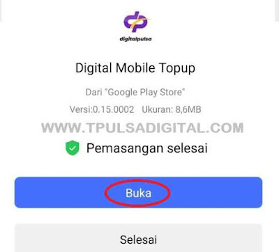 Buka Aplikasi Digital Mobile Topup Digital Pulsa
