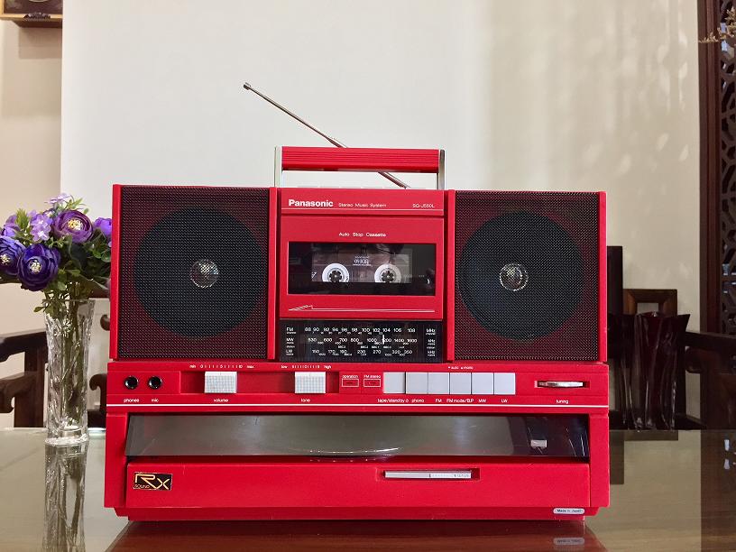 Đài băng đĩa than Radio Cassette LP PANASONIC Nhật xuất châu Âu