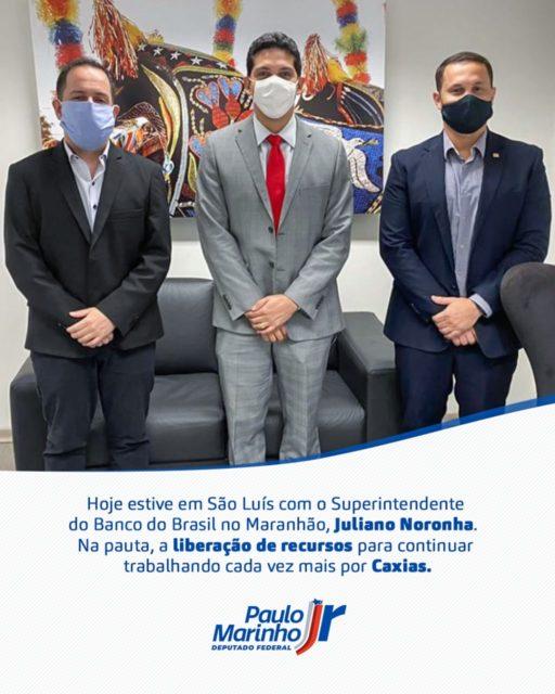 Deputado Paulo Marinho Jr esteve presente em São Luís, com o Superintendente do Banco do Brasil do Maranhão