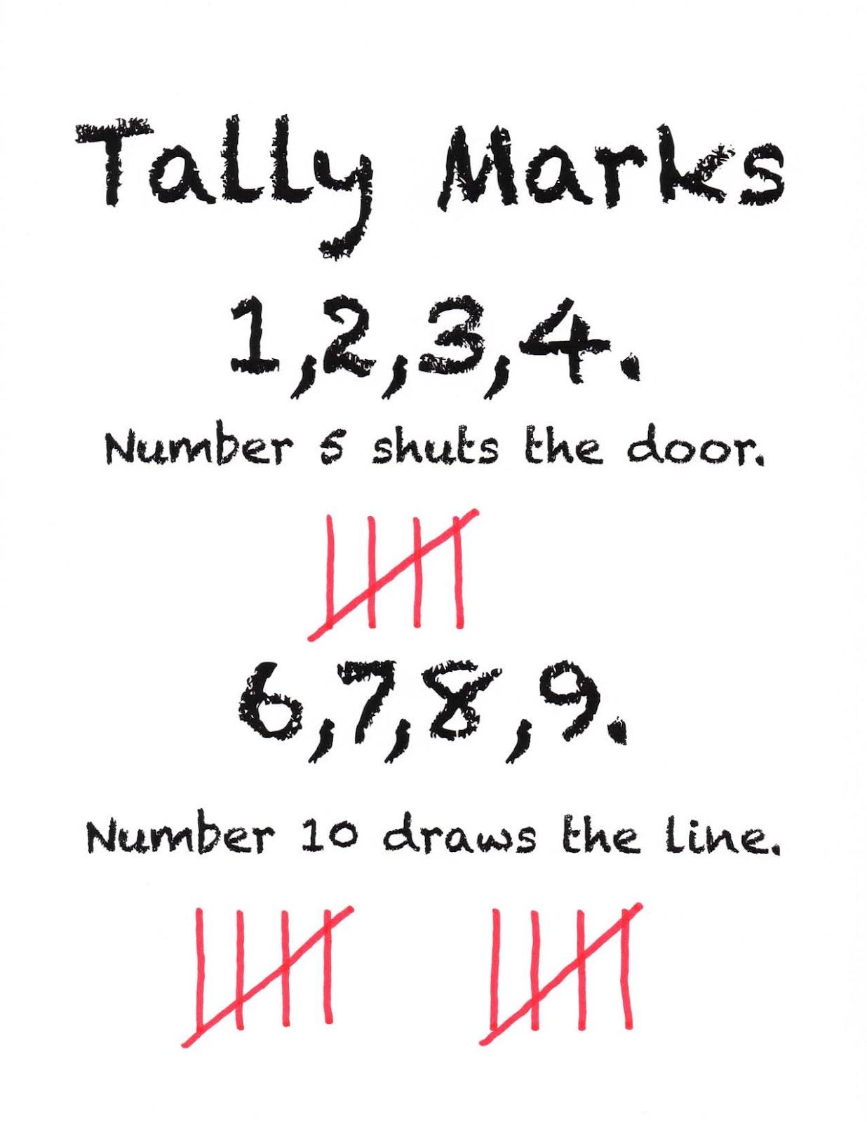 Tally Mark Worksheet More Less