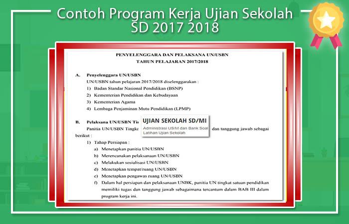 Program Kerja Ujian Sekolah