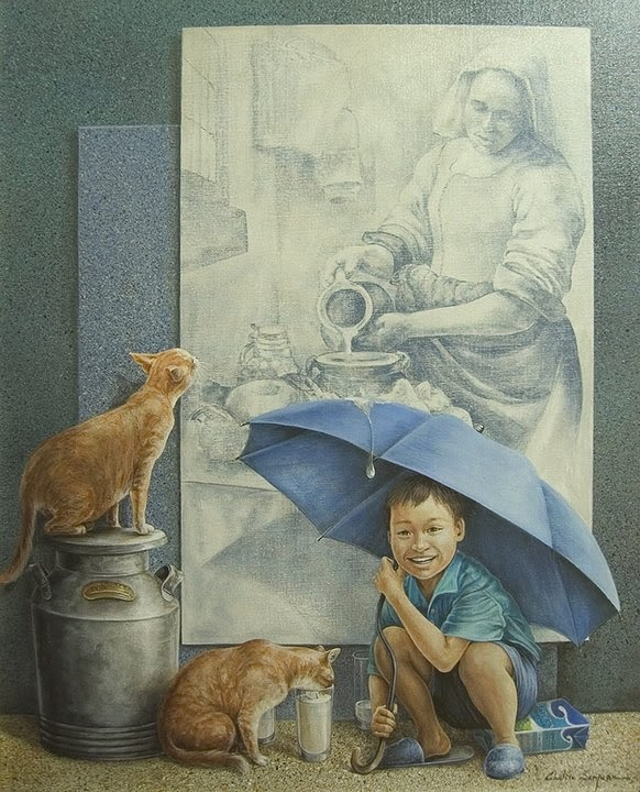 08-Chelin-Sanjuan Piquero-Oil-Paintings-in-Magical-Realism-www-designstack-co