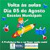 A Prefeitura Municipal de Parnaiba comunica a data para o segundo semestre do ano letivo