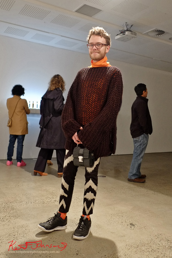 Menswear, Personal Style, Black and White, Knitwear,. Photo by Kent Johnson for Street Fashion Sydney.