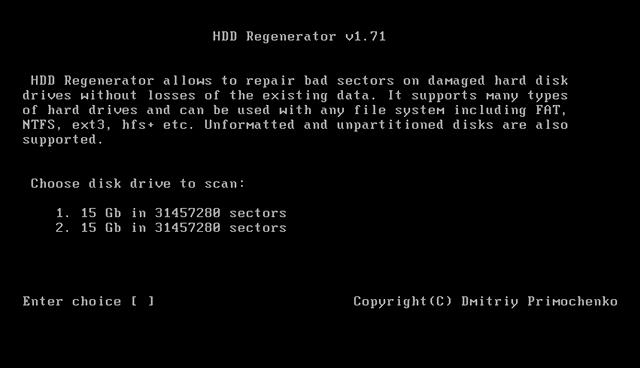 HDD regenerator for windows