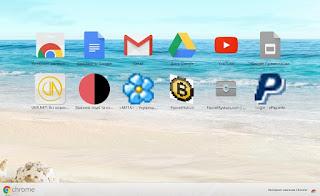 Пример оформления стартовой страницы Google Chrome