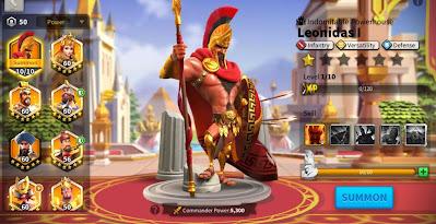 komandan infantry terbaik rise of kingdoms