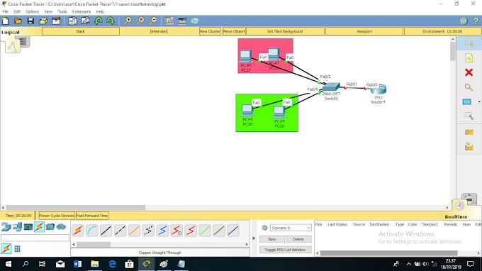 konfigurasi inter vlan di cisco packet tracer