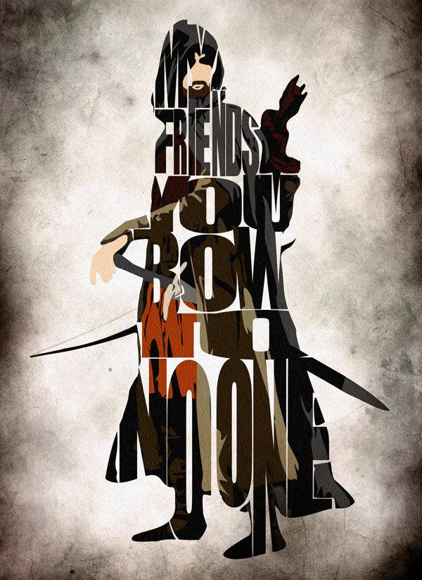 Viggo Mortensen as Aragon in Lord Of The Rings