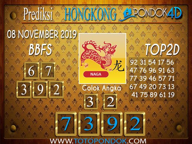 Prediksi Togel HONGKONG PONDOK4D 08 NOVEMBER 2019
