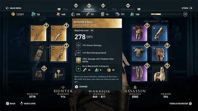 Как получить легендарное оружие в Assassin's Creed Odyssey