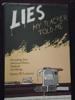 Book cover to Lies My Teacher Told Me by James Loewen