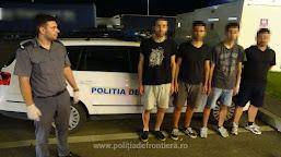 Patru cetățeni turci, ascunși în proximitatea P.T.F. Calafat, opriți din drumul ilegal către Germania