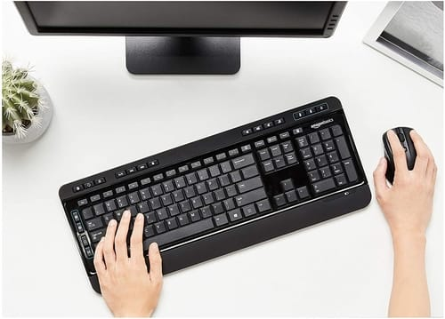 Review AmazonBasics Wireless Computer Keyboard and Mouse