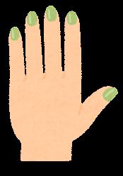 マニキュアのイラスト(緑)