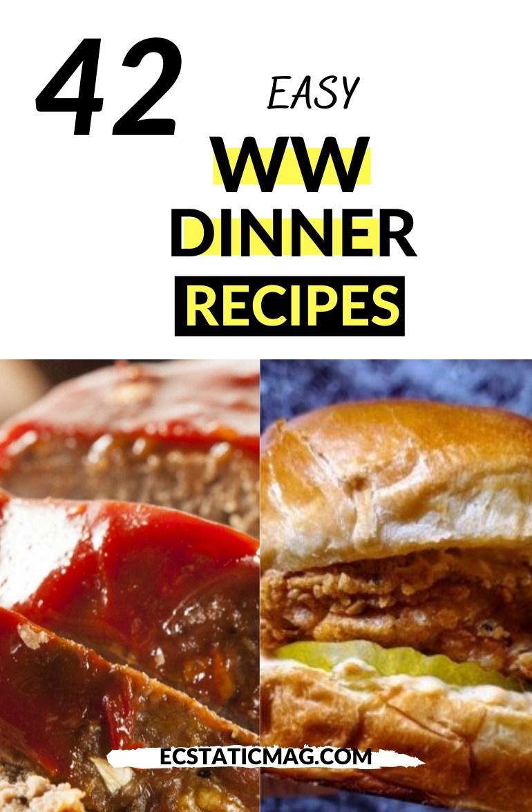 Best Weight Watchers Dinner Recipes