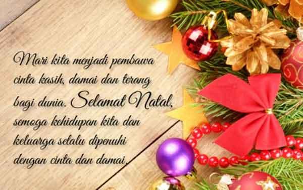 kartu ucapan merry christmas dalam bahasa inggris