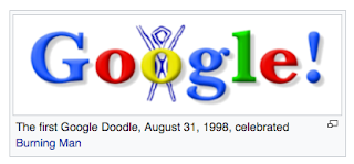 The first Google Doodle, 31 August 1998