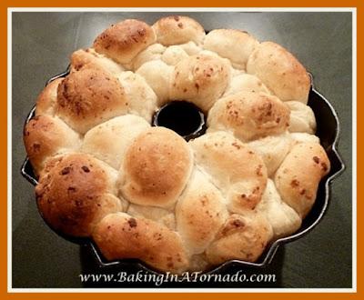 Pepperoni Pull Apart Bread | recipe developed by www.BakingInATornado.com | #recipe