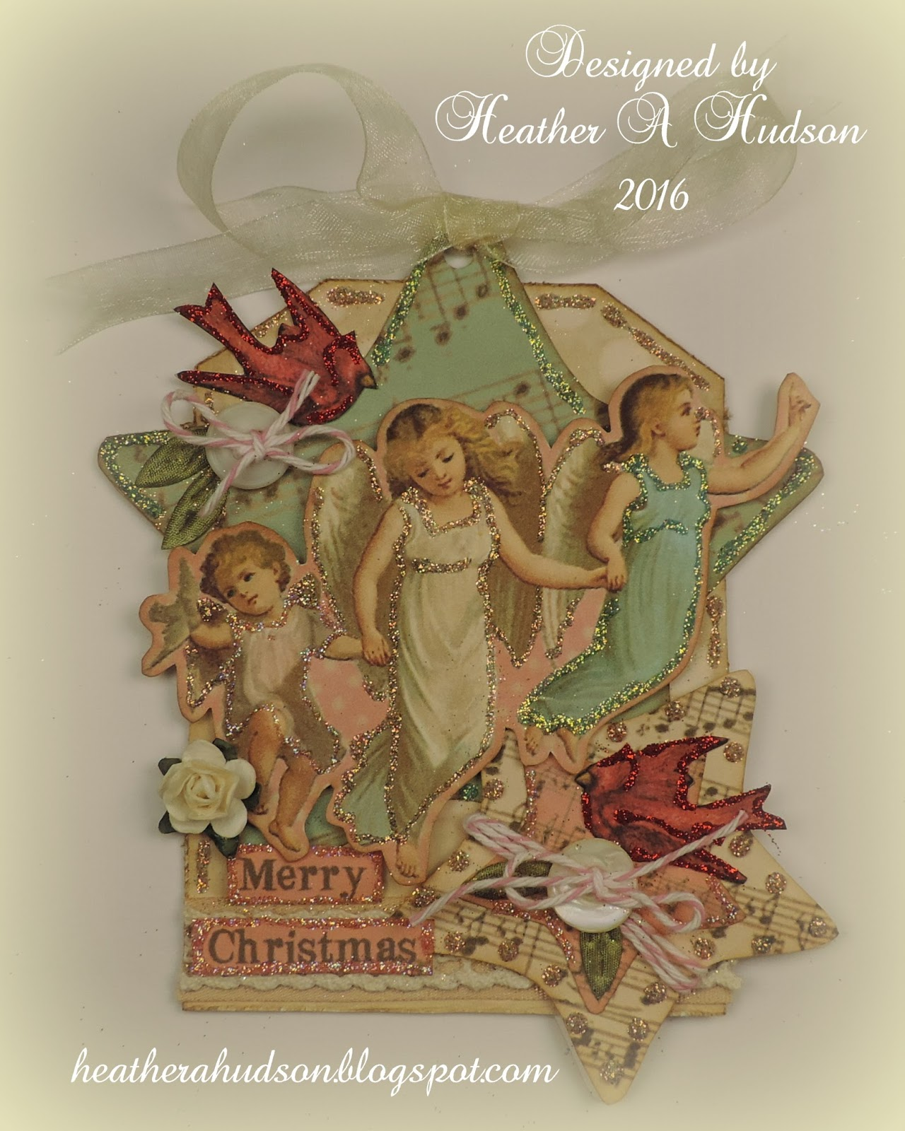 Vintage Peace On Earth Angels Christmas Tag Tutorial