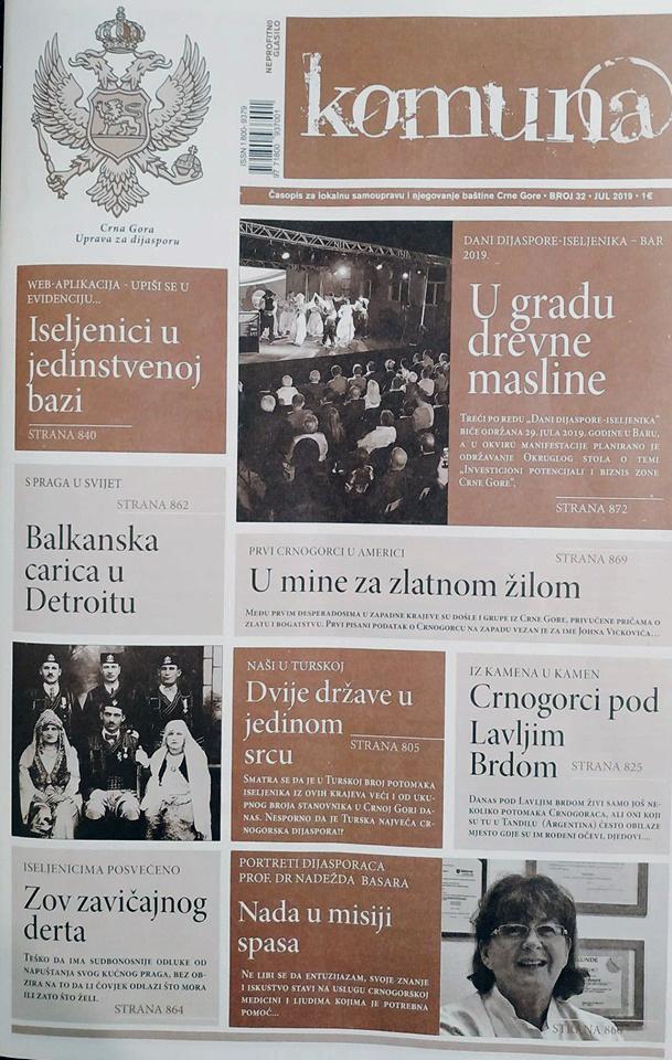 Novi broj časopisa Komun@ posvećen dijaspori Crne Gore
