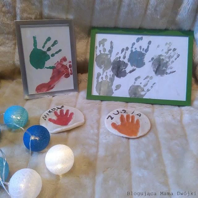 zabawa, z , prezent na dzien babci i dziadka,dzieckiem, odciski, masa solna, dom, dzieci, dziewczynki, dziecko, artystyczne, kreatywna zabawa