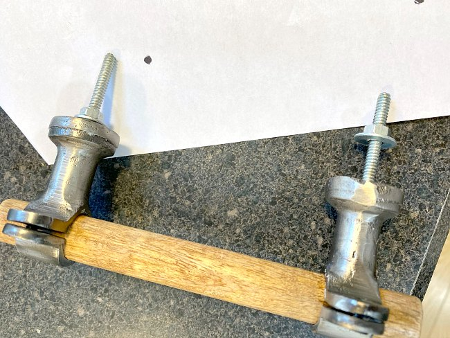 Rustic farmhouse handle replacement on furniture